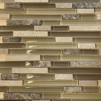 Cappuccino  Glass Marble Mosaics