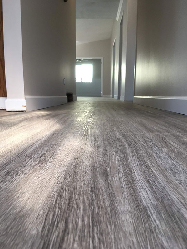 vinyl flooring in a painted house
